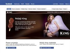 Facebook App - King -  App for ice cream lovers