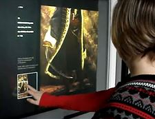 Museum Application for Interactive Touch Surface