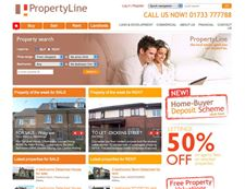 Property Line- estate agents website for sales and lettings