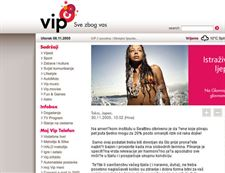 Web portal for telecommunication giant Vipnet -V.2